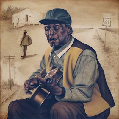 Honeyboy Edwards by Earl Klatzel