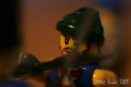 Legoman in Battle