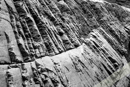 Mosaic Canyon in B&W