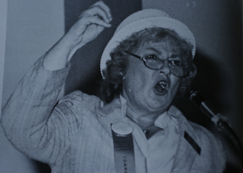 Bella Abzug speaking