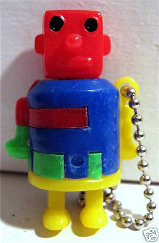 The robot puzzle keychain I want!