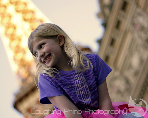 Miss JR at the Eiffel Tower