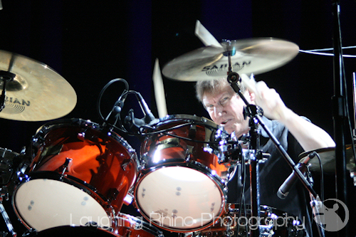 Randy on drums