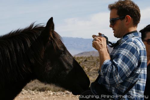 TA with horse closeup