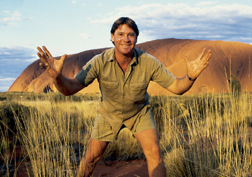 Steve Irwin at Uluru