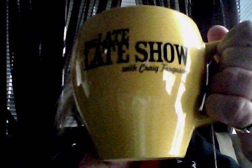 My awesome Late Late Show with Craig Ferguson mug