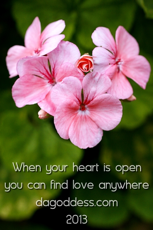 When your heart is open