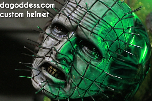 Horny Mike Pinhead helmet work