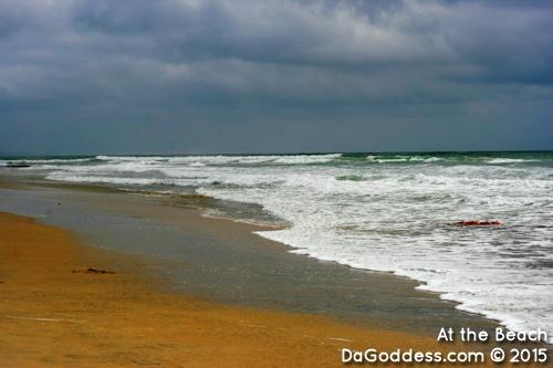 The beach in Encinitas